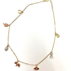Jewelry - 14kt Gold Lucky Charm Evil Eye Anklet